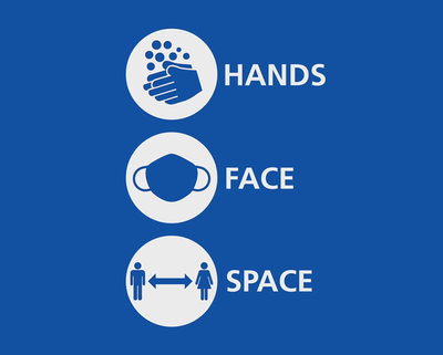Covid 19: Hands, Face and Space