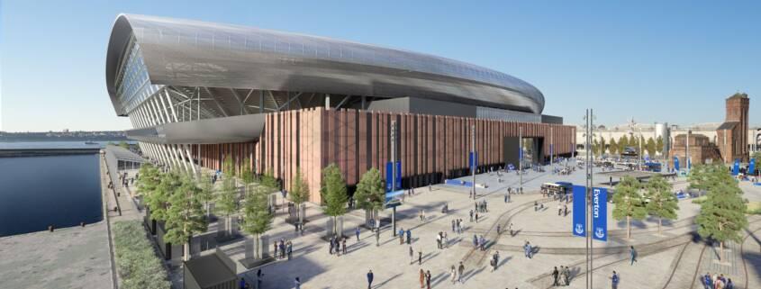 Latest CGI of how Everton Stadium will look at Bramley-Moore Dock