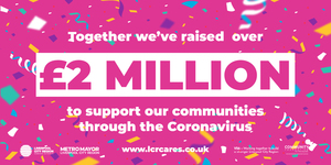 LCR Cares £2 Million celebration graphic