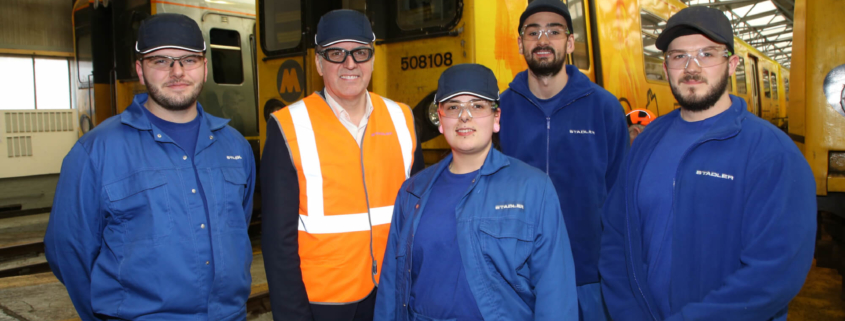 Stadler apprentices qualify and get jobs at the company.