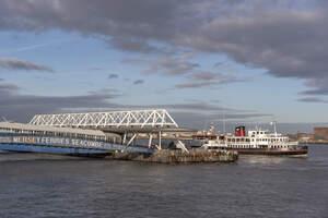 Ferry approaching ferry terminal