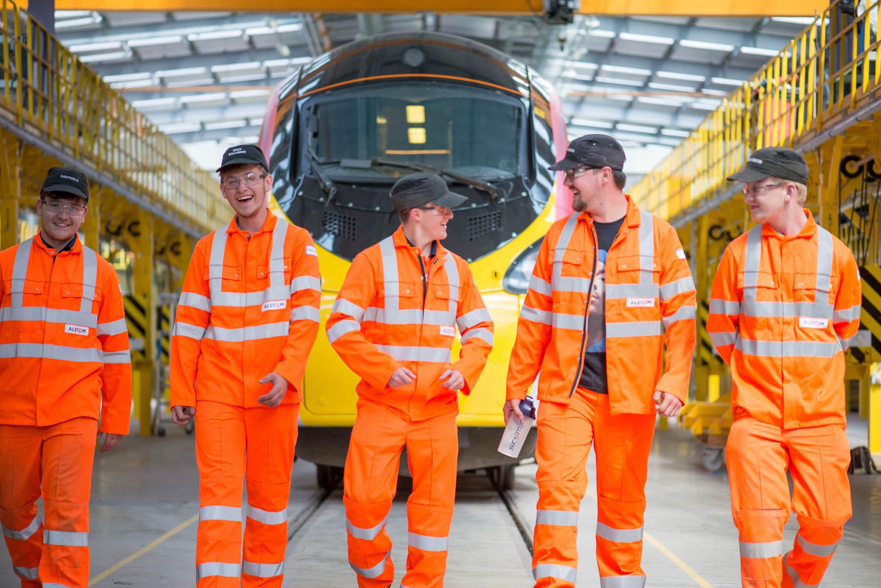 Apprentices at Alstom Train Care Depot, Liverpool