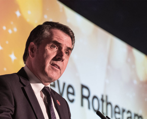 Steve Rotheram giving a speech